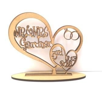 Wooden Wedding Anniversary heart