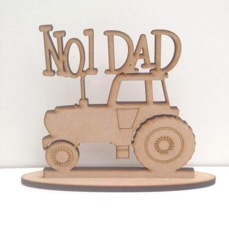 .Wooden personalised dad tractor sign