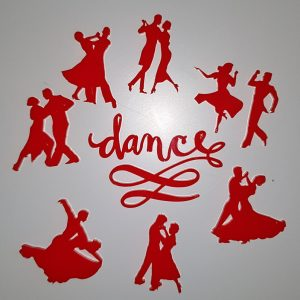 DANCE SET OF CAKE FONDANT STAMPS