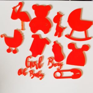 BABY SET OF CAKE FONDANT STAMPS